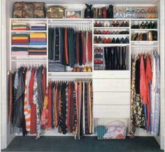 Wall to wall linear closet