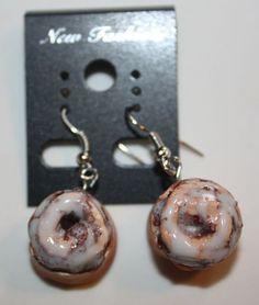 Cinnamon Rolls Realistic Fake Food Earrings
