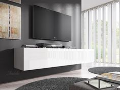 TV-Meubel Flame 2 - Wit