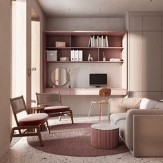 Here is the best place for you to find the greatest pink home ideas. Here we present to you house tours to each room in a pink with monochrome color in Pink Home Ideas To Give A Penchant Stylish Touch. Living Room Grey, Living Room Sofa, Living Rooms, Pouf Rose, Monochrome Bedroom, Pastel Room, Pink Furniture, Apartment Makeover, Lounge Areas