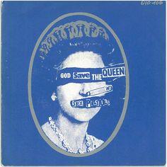 Jamie Reid, Sex Pistols -  God save the Queen - Lim.Ed,   album cover, 1977 coll. Rome-Paris