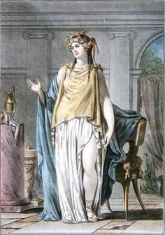 Hermione, costume for 'Andromaque' by Jean Racine, from 'Research on the Costumes and Theatre of All Nations', engraved by Pierre Michel Alix Postcards, Greetings Cards, Art Prints, Canvas, Framed Pictures, T-shirts & Wall Art by Philippe Chery Hermione Costume, Framed Pictures, Postcards, Picture Frames, Princess Zelda, Costumes, Art Prints, Wall Art, Canvas