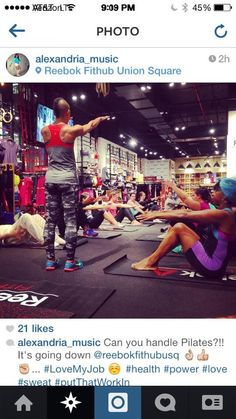 Teaching at Reebok Fithub Union Square NYC
