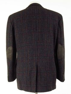 Tweed Jackets, Harris Tweed Jacket, Elbow Patches, Vintage Outfits, Men Sweater, Plaid, Fabric, Sleeves, Sweaters