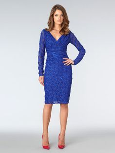 Textured Lace Cocktail Dress