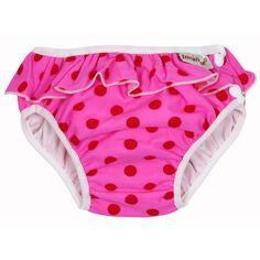 #Costume da #bagno #contenitivo per #bambini e #neonati- rosa a pois