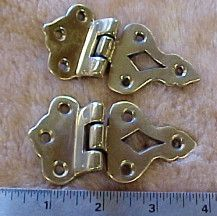 """solid brass 1-7/8"""" wide by 3-3/8"""" long. sold in pairs"""