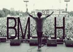 I may look happy, but honestly dear, the only way I'll really smile is if you cut me ear to ear. -Bring Me The Horizon <3