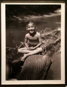 Here is my favorite image in the exhibition, Jerry Poolaw, the artist's son, at the Washita River from 1932.