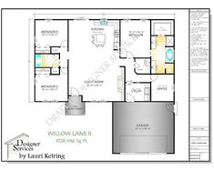 The Willow Lane II plan is an upgrade from the original version with a closed in garage on front and a completely different look to the exterior. This popular craftsman design can be purchased as a stock plan or it can be customized just for you. Custom Home Plans, Custom Homes, Electrical Plan, Garage, Mediterranean Home Decor, Diy Shed, Shed Plans, Building Plans, Minimalist Home