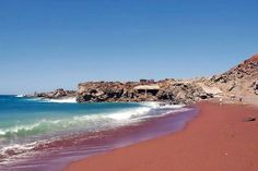 Red sand Beach in Canary Islands, El Hierro