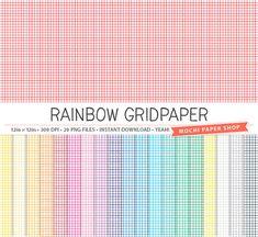 Stars Digital Paper   Rainbow Colors  Star By Mochipapershop