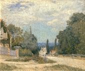 Route from Louveciennes - Alfred Sisley - www.alfredsisley.org