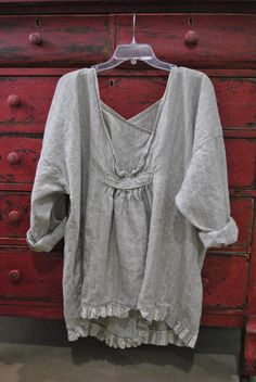Linen Tunic low vneck