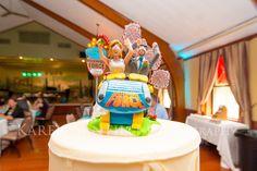 Roller coaster wedding cake topper