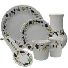 Fiesta Icons was a limited run collection exclusively for Dinnerware USA. Colors include Plum, Sunflower, Cinnabar and Shamrock. Items available as of March 2013, vase, platter, utility crock and salad plates. View Fiesta Icons items