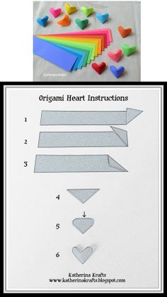 3D Heart origami tutorial