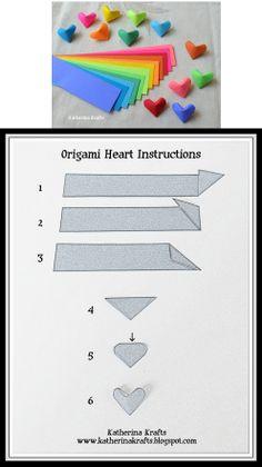 3D Heart origami tutorial