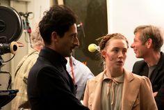 Actor Adrien Brody  (Dimitri Desgoffe Un Taxis ) & Actress  Saoirse Ronan(Agatha) on set of The Grand Budapest Hotel(2014)