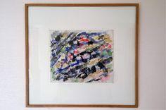 """Elvire JAN, """"Composition"""", aquarelle sur papier, 1959, 23 x 28 cm"""