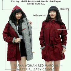 Shop Online Azkar Jaket Parka Wanita Premium (Maroon)Kualitas memuaskan  Azkar Jaket Parka Wanita 05d74ac8c5