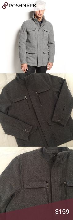 NWOT-Calvin Klein Gray Basic Wool Four Pocket Coat NEW NEW NEW - Never been worn. Calvin Klein Jackets & Coats