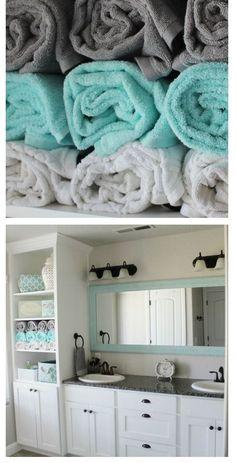 Tiffany Blue & Grey Bathroom