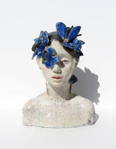 Insomnie // Lidia Kostanek, ceramic sculpture raku