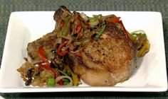 The Chew | Recipe  | Mario Batali's Pork Chops With Peppers And Capers