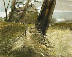 Andrew Wyeth (1917 — 2009, USA) Watercolor.