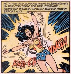 Wonder Woman break from Pink collar