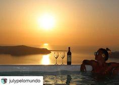 Luxury Suites Santorini combines a world of beauty and tradition! Luxury Life, Luxury Living, Imerovigli Santorini, Greece, Villa, Drink, Sunset, World, Outdoor