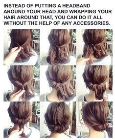- How to Do a Chignon Bun – Easy Chignon Hair Tutorial - The Trending Hairstyle Easy Chignon, Chignon Hair, Up Hairstyles, Braided Hairstyles, Pretty Hairstyles, Medium Hair Styles, Curly Hair Styles, Prom Hair Tutorial, Hair Upstyles