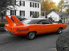 1970 Plymouth Superbird - not a huge fan of the wing, but love the orange