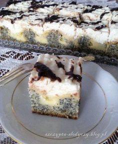 Ciasto Makowe Wydmy pod kokosową pierzynką | Szczypta Słodyczy