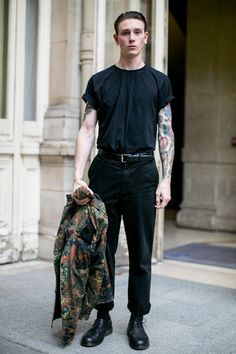 Tattoos really are a great accessory with an all black outfit.