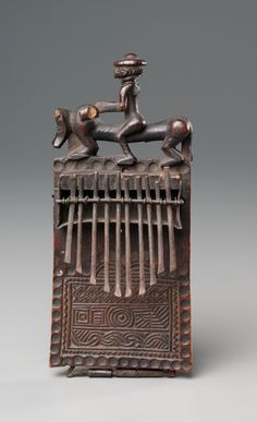 Central Africa, Democratic Republic of the Congo or Angola, Chokwe peoples, late 19th century, wood and iron, Overall - h:19.10 w:10.20 d:6.40 cm (h:7 1/2 w:4 d:2 1/2 inches). The Harold T. Clark Educational Extension Fund 1915.495