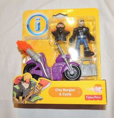 NEW Fisher Price Imaginext City Burglar & Cycle Rescue City, Motorcycle #FisherPrice