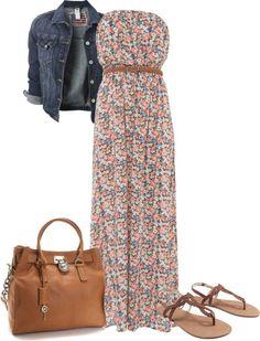 """Spring Floral Dress"" by srose38 on Polyvore"