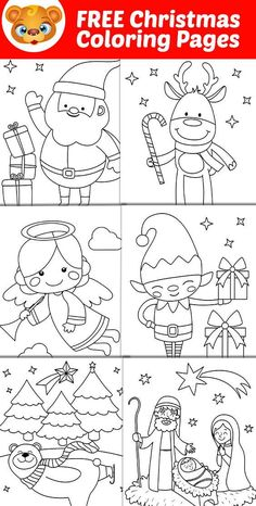 Free Printable Christmas Coloring Pages That Can Be Used To Make Cards For Family Members