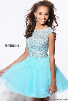 Light Blue Semi Formal Dresses Short