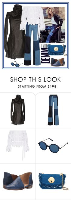"""""""Denim is a way of life - contest"""" by gagenna ❤ liked on Polyvore featuring Rick Owens, Alima, Anja, Victoria, Victoria Beckham, Miguelina, Oliver Peoples, Free People, See by Chloé, victoriabeckham and RickOwens"""