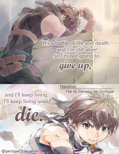 Grimgar, Manga Anime, Anime Art, Good Anime Series, Anime Qoutes, Depression Quotes, Life And Death, Zodiac Quotes, Amazing Quotes