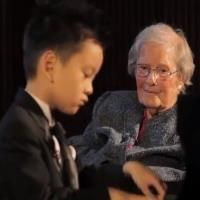 5 Year Old Plays Piano For 101 Year Old  - This goes beyond extraordinary