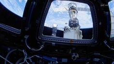 """NASA invited viewers on a """"fly-by"""" tour of the International Space Station in 4k ultra high definition, using a fish-eye lens."""
