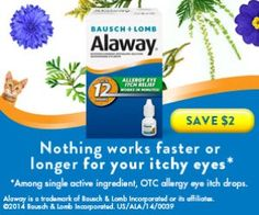 Tri Cities On A Dime: SAVE $2.00 ON ALAWAY ANTIHISTAMINE EYEDROPS