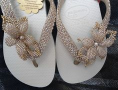 Chinelos decorados para noivas -  Inspire- se