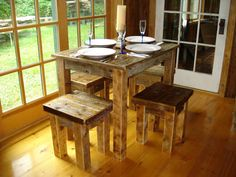 Driftwood Dining Room Set 36x36x29H TABLE by DriftwoodTreasures