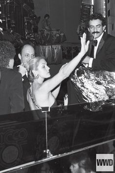 Carolina Herrera & Victor Hugo at Studio 54