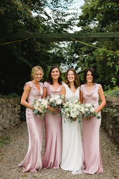 Be inspired by Dee & James' effortlessly elegant garden party wedding at Cloughjordan House Garden Wedding Decorations, Garden Party Wedding, Silk Satin Dress, Satin Dresses, Bridesmaid Dress Styles, Bridesmaids, Wedding Dresses, Bridesmaid Inspiration, Party Looks